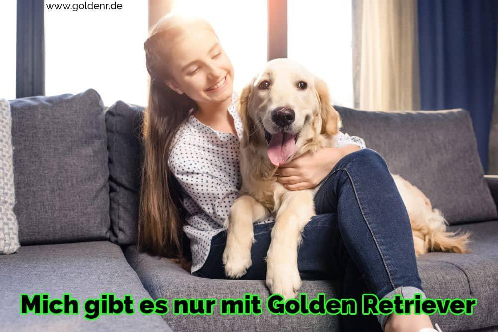 Ein mädchen abraça seu Golden Retriever