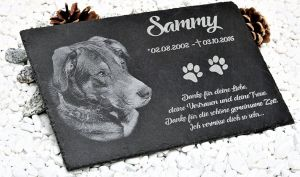 Golden Retriever Gedenktafel